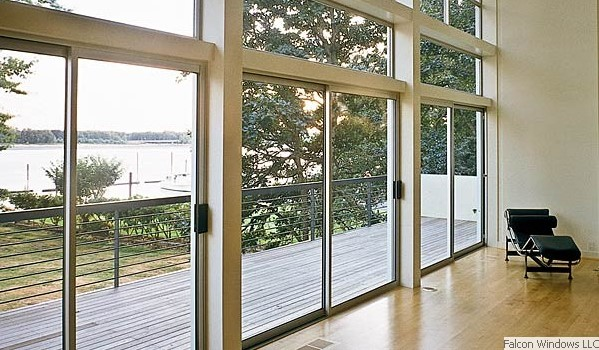 Replace Sliding Glass Door with Window 599 x 350