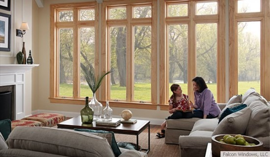 Wood replacement windows are a specialty of Falcon Windows LLC